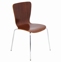 LumiSource Bentwood Stacker Mid-century Modern Counter Chair in Walnut