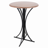 LumiSource Boro Bar Contemporary Table in Walnut and Black