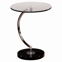 LumiSource C End Contemporary Table in Glass