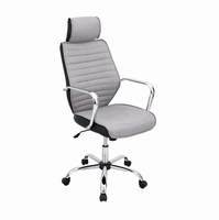 LumiSource Capitol Contemporary Office Chair in Charcoal
