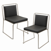 LumiSource Cascade Stackable Dining Contemporary Chair - Set Of 2