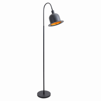 LumiSource Charlie Industrial Floor Lamp in Black and Gold
