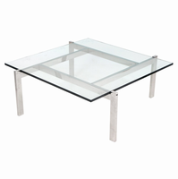 LumiSource Cosmopolitan Coffee Contemporary Table in Clear