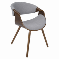 LumiSource Curvo Mid-Century Modern Walnut Chair