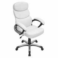 LumiSource Doctorate Height Adjustable Office Chair with Swivel in White