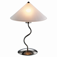 LumiSource Doe Li Contemporary Desk Lamp in Brushed Satin Finish