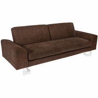 LumiSource Drake Sofa in Brown
