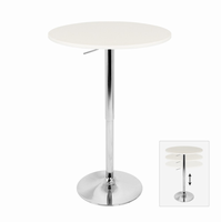 LumiSource Elia Height Adjustable Bar Contemporary Table