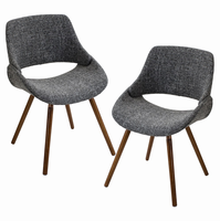LumiSource Fabrico Mid-century Modern Counter Chair - Set Of 2