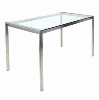 LumiSource Fuji Dining Contemporary Table in Clear