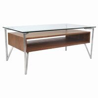 LumiSource Hover Coffee Contemporary Table in Walnut
