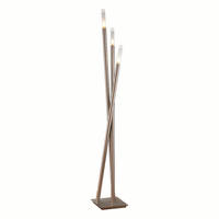 LumiSource Icicle Contemporary Floor Lamp in Brushed Nickel