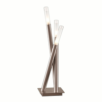 LumiSource Icicle Contemporary Table Lamp in Brushed Nickel