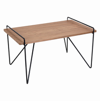 LumiSource Loft Mid-century Modern Coffee Table in Walnut and Black
