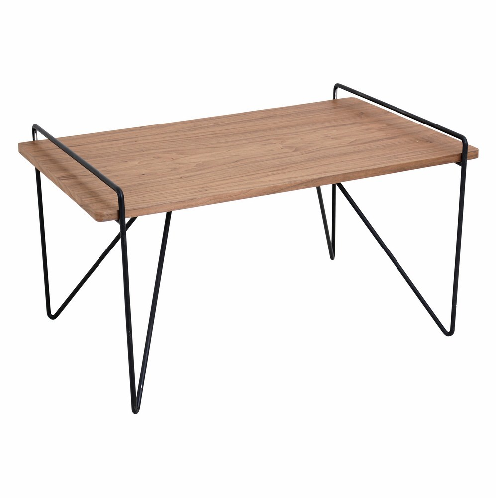 Lumisource Loft Mid Century Modern Coffee Table In Walnut And Black