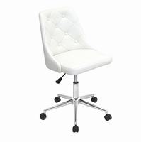 LumiSource Marche Height Adjustable Modern Office Chair with Swivel