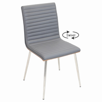 LumiSource Mason Wood & Stainless Steel Contemporary Chair With Swivel - Set Of 2