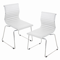 LumiSource Master Stackable Contemporary Chair - Set of 2