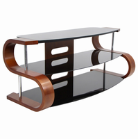 LumiSource Metro 120 Contemporary TV Stand in Birch and Black
