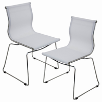 LumiSource Mirage Stackable Dining Contemporary Chair - Set Of 2