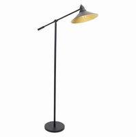 LumiSource Paddy Industrial Floor Lamp in Black and Gold