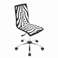 LumiSource Printed Height Adjustable Office Chair with Swivel