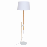 LumiSource Raised Floor Lamp in Medium Brown and White