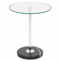 LumiSource Ripple End Table in Clear