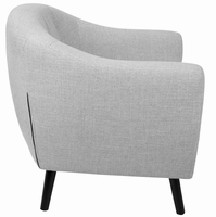 LumiSource Rockwell Mid-Century Modern Chair with Noise Fabric