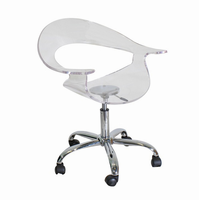LumiSource Rumor Height Adjustable Contemporary Office Chair with Swivel in Clear