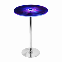 LumiSource Spyra Light Up and Height Adjustable Bar Contemporary Table in Multi