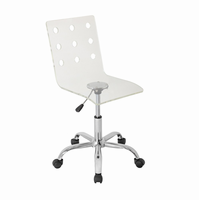LumiSource Swiss Height Adjustable Contemporary Office Chair with Swivel in Clear