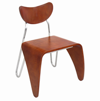 LumiSource Toro Contemporary Chair in Walnut