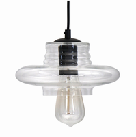 LumiSource Torus Long Industrial Pendant in Clear