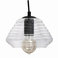 LumiSource Torus Triangle Industrial Pendant in Clear