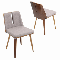 LumiSource Varzi Mid-Century Modern Dining Chair