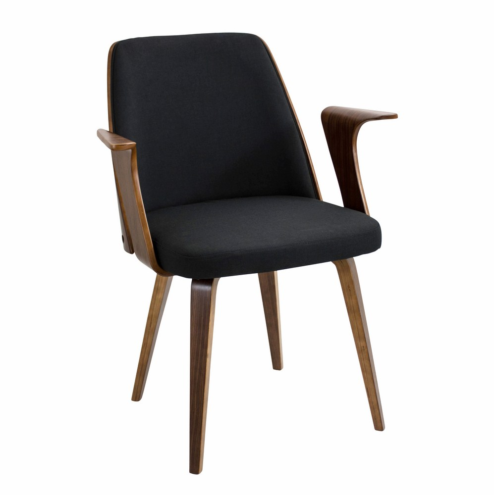 Lumisource verdana mid century modern dining chair for Modern wood chair