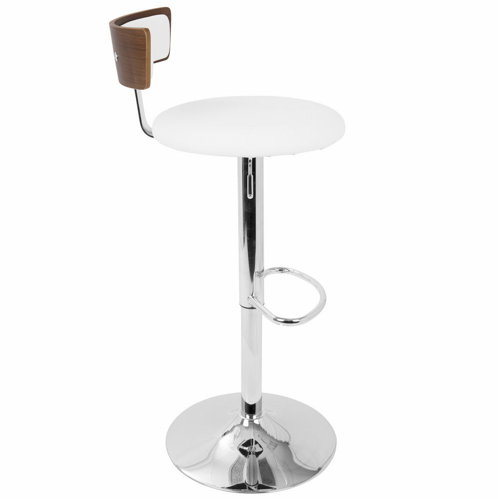 Magnificent Lumisource Weller Contemporary Barstool With Chrome Frame Evergreenethics Interior Chair Design Evergreenethicsorg