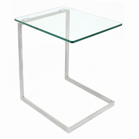 LumiSource Zenn Glass End Contemporary Table in Glass