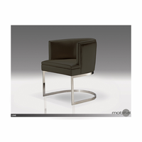 Lune Dining Armchair Black Leatherette