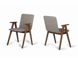 Maddox - Modern Sesame & Walnut Dining Chair (Set of 2)