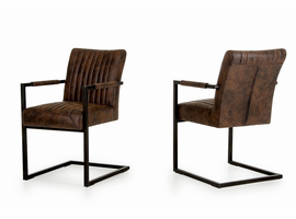 Marfa - Modern Cognac Dining Arm Chair (Set of 2)