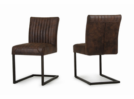 Marfa - Modern Cognac Dining Side Chair (Set of 2)