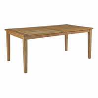 Marina Outdoor Patio Teak Dining Table, Natural [FREE SHIPPING]