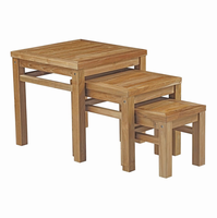 Marina Outdoor Patio Teak Nesting Table, Natural [FREE SHIPPING]