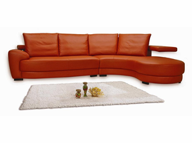 Matisse  Leather Sectional Sofa