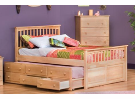 Matte's Twin Bed with 4 Drawer Under Bed Chest