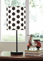 Ashley Express Furniture - Lamar - L857704 - Metal Table Lamp (1/CN), Black/White