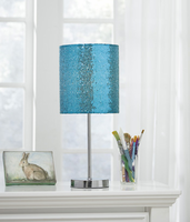 Ashley Express Furniture - Maddy - L857714 - Metal Table Lamp (1/CN), Teal/Silver Finish