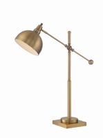 Metal Table Lamp, Brushed Brass, E27 Cfl 23w